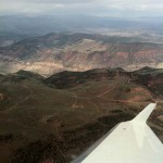 Flying into the mountains of Colorado... Red, green, blue... lot's of color i love it