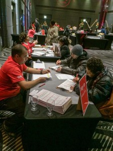Registration Drive at the Hard Rock Hotel
